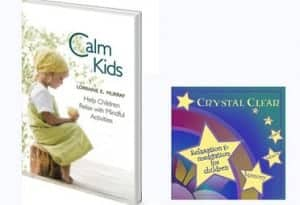 calm kids book and crystal clear meditation cd by lorraine murray