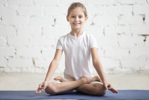 girl practising meditation