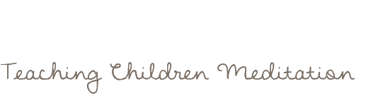 Teaching Children Meditation Logo text